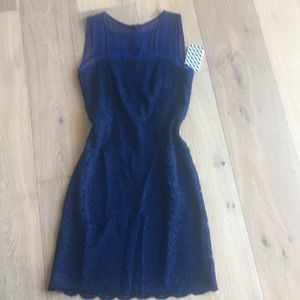 Blue lace DVF dress